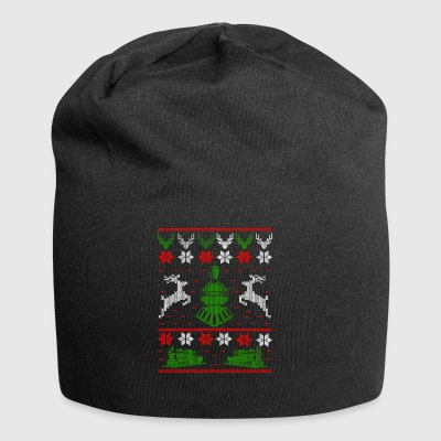 Railroad locomotive Ugly Christmas - Jersey Beanie