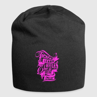 Learn and breack rules T-Shirt Motiv pink - Jersey-Beanie