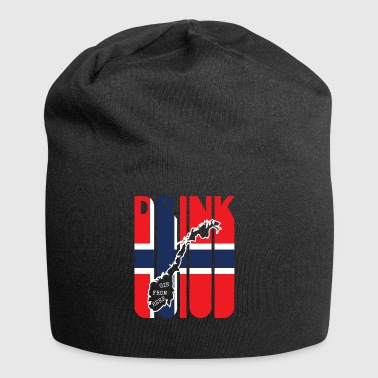 Vintage Drink Gin from Norway Gifts. Drink-Lover - Jersey Beanie