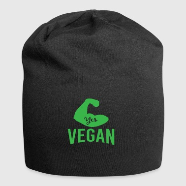 YES VEGAN vegetarian we can now new xmas rev - Jersey Beanie