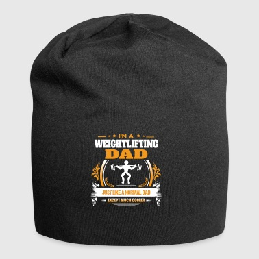 Weightlifting Dad Shirt Gift Idea - Jersey Beanie