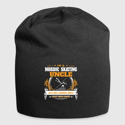 Nordic Skating Uncle Shirt Gift Idea - Jersey Beanie