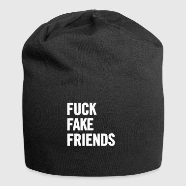Fuck Fake Friends 2 White - Jersey Beanie