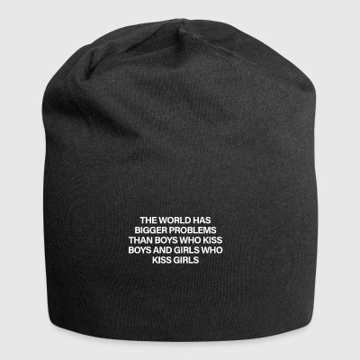 The World Has Bigger Problems White - Gorro holgado de tela de jersey