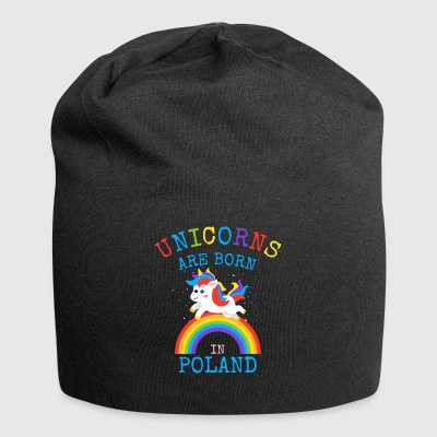 Unicorns are born in Poland.Funny Polish Gifts - Jersey Beanie