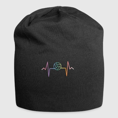 Volleyball - Heartbeat - Pulse - Beachball - Jersey Beanie