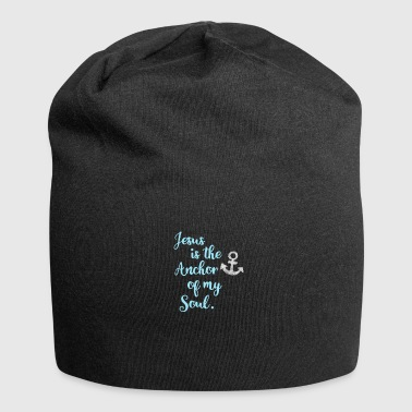 anchor jesus bible pray saying - Jersey Beanie