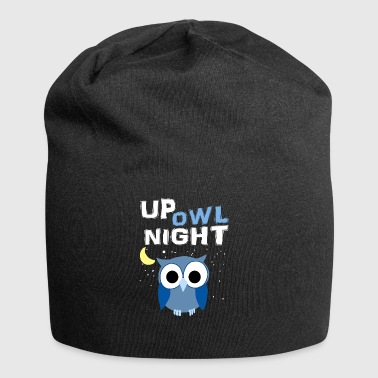 Up Owl Night Owl Moon Nocturnal Bird Lover Funny - Jersey Beanie