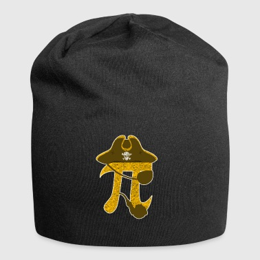 Pi Pirate Funny Algebraic Mathematic Symbol Sign - Beanie in jersey
