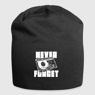 mixtape tape cassette never forget - Jersey Beanie