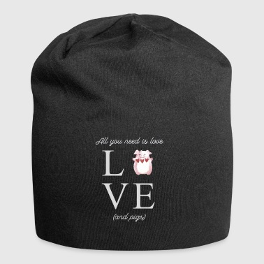 LOVE pig heart piggy T-shirt - Jersey Beanie