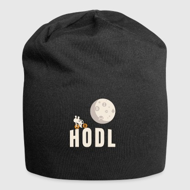 HODL Bicycle Flying Moon Cryptocurrency Blockchain - Gorro holgado de tela de jersey