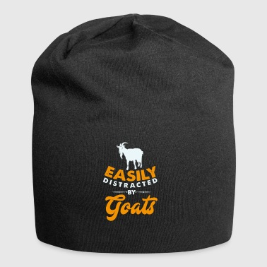 Easily distracted by Goats -abgelenkt durch Ziegen - Jersey-Beanie