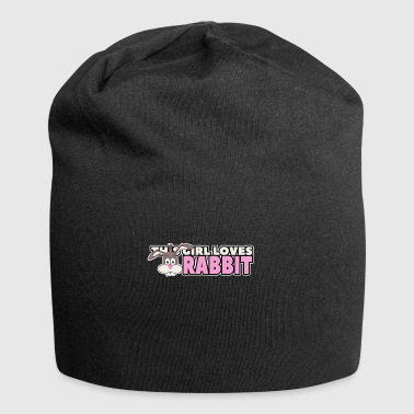 this girl loves rabbit - Jersey-Beanie