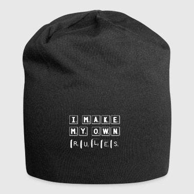 I Make My Own Rules - Funny Crossword Scrabble - Jersey Beanie