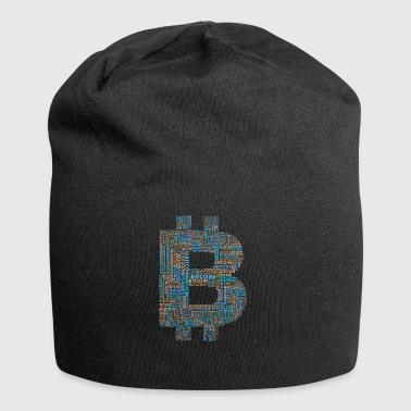 bitcoin currency internet icon computer nerd pc - Jersey Beanie