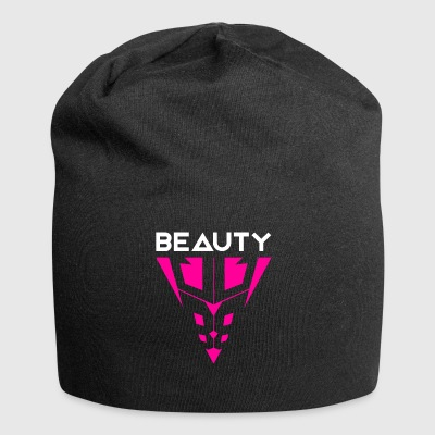 Beauty White / Pink - Jersey Beanie