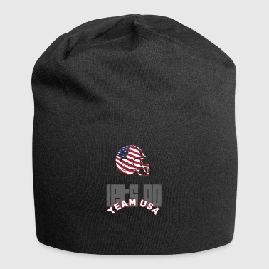 Usa Football Touch down flag America Sports defenes - Jersey Beanie