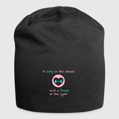 A lady in the street and a freak at the gym - Jersey Beanie