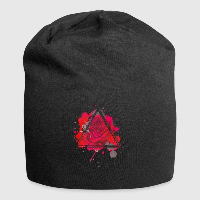Rote Rose Triangel - Jersey-Beanie
