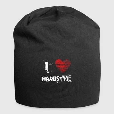 i love hardstyle hardtech dubstep raver festival - Jersey-Beanie