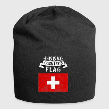 Swiss National Day - Used Look, Vintage - Jersey Beanie