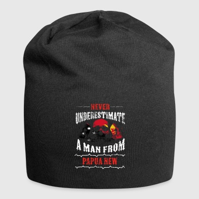 never underestimate man PAPUA NEW GUINEA - Jersey Beanie
