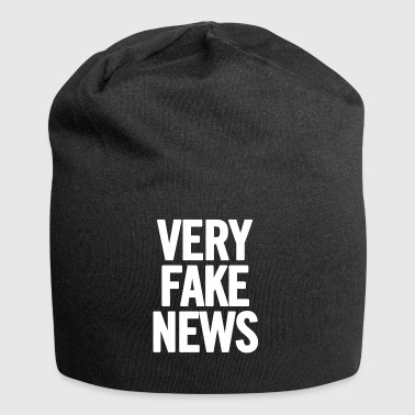 Very Fake News White - Jersey Beanie
