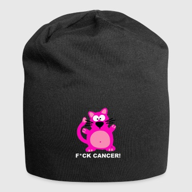 Fuck Cancer T-Shirt Design Katzen Cat Krebs - Jersey-Beanie