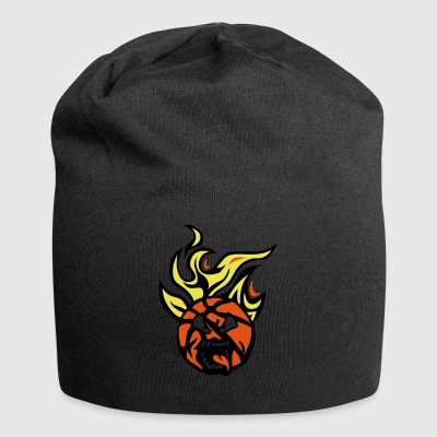 Basketball cartoon0 ansigt flamme tunge f - Jersey-Beanie
