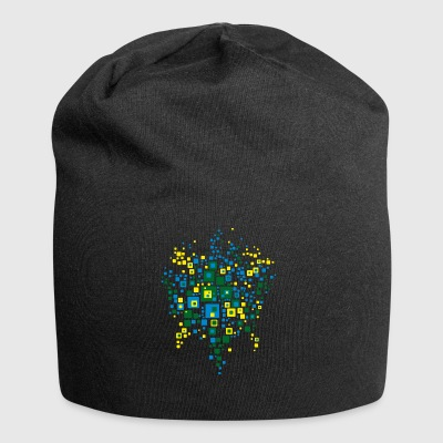 world map colors brazil - Jersey Beanie