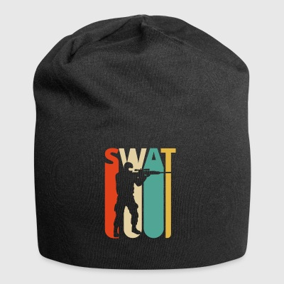 Weinlese-Retro Swat-Team. CO19. Swat Officer Geschenke - Jersey-Beanie