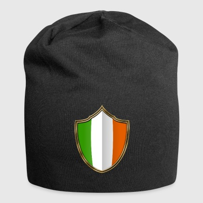 Ireland Flag Coat of Arms Gold 016 - Jersey Beanie