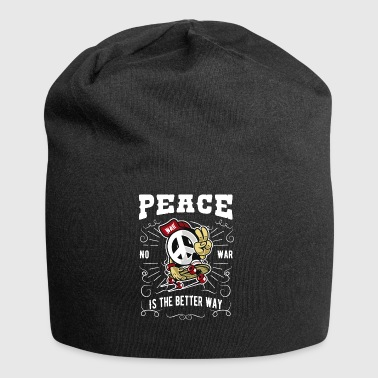 Peace was no - Jersey Beanie