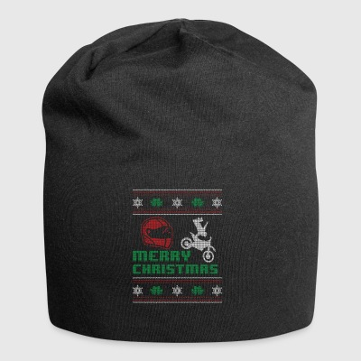 Funny Motorcycle Bike Shirt Merry Christmas - Jersey Beanie