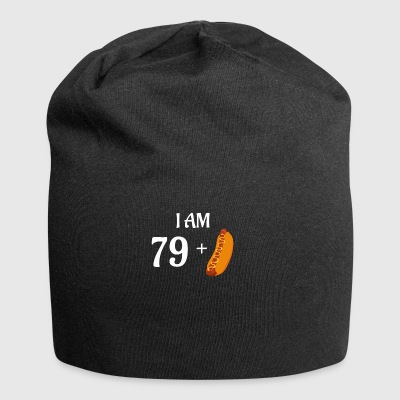 I am 79 plus hot dog - Jersey Beanie