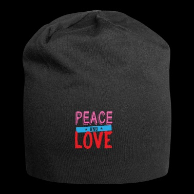 Shirt Peace and Love - Czapka krasnal z dżerseju