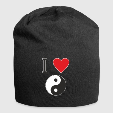 I LOVE YIN YANG is clear that everyone likes that - Jersey Beanie