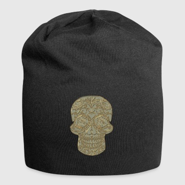 Muertas mexican skull pattern gift - Jersey Beanie