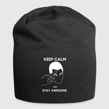 Keep Calm, Stay awesome - Jersey Beanie