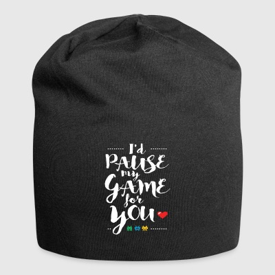 Gamer Shirt- Id Pause My Game - Jersey-Beanie