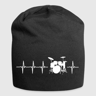 I love drums (drum heartbeat) - Jersey Beanie