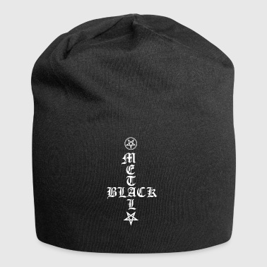 Black Metal - reversed cross with pentagram - Jersey Beanie