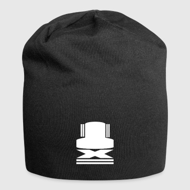 Hut Icon in Weiss - Jersey-Beanie