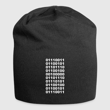 Binary send nudes funny t-shirt - Jersey Beanie