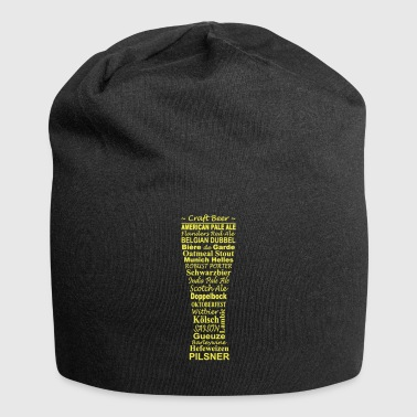 Beers of the world in the glass - Jersey Beanie