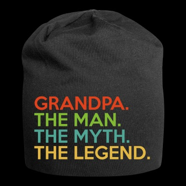 Grandpa.The Man.The Myth. The Legend.Birthday Gift - Jersey Beanie