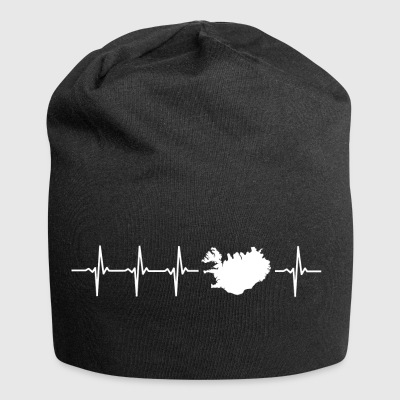 I love Iceland (Iceland heartbeat) - Jersey Beanie