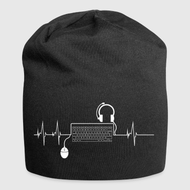Gamer Shirt Heartbeat PC - Beanie in jersey