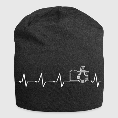 Photography I love photography (heartbeat) - Jersey Beanie